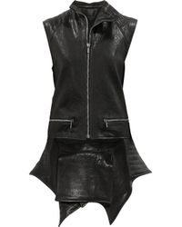 Haider Ackermann - Black Quilted tail Leather Vest - Lyst