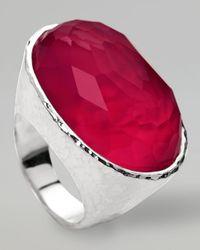 Ippolita | Metallic Wonderland Oval Ring Raspberry | Lyst
