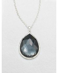 Ippolita - Blue Hematite Doublet Sterling Silver Pendant Necklace - Lyst