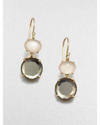 Ippolita | Pink 18k Gold Semiprecious Multistone Drop Earrings | Lyst