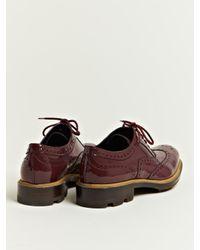 Jil Sander Purple Jil Sander Womens Patent Brogue Oxford Shoes