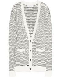 Jonathan Saunders Gray Textured knit Cotton Cardigan