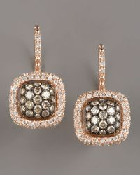 KC Designs | Metallic Champagne & White Diamond Earrings, Yellow | Lyst
