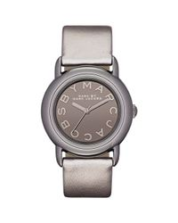 Marc By Marc Jacobs | Womens Metallic Gray Leather Strap 33mm | Lyst