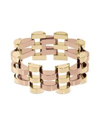 Michael Kors Metallic Two Tone Deco Link Bracelet