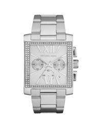 Michael Kors - Gray Womens Chronograph Gia Stainless Steel Bracelet 37mm - Lyst