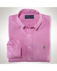 Polo Ralph Lauren - Pink Classicfit Linen Shirt for Men - Lyst