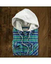 Ralph Lauren | Green Stephen Hooded Plaid Shirt for Men | Lyst