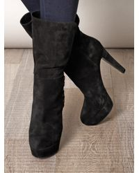Sergio Rossi - Black Gilet Laceup Detail Boots - Lyst