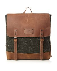 Ted Baker Brown Wool Rucksack with Leather Trim for men