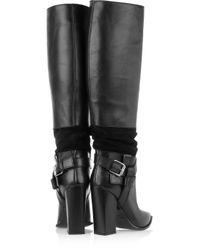 Thakoon Black Leather Knee Boots