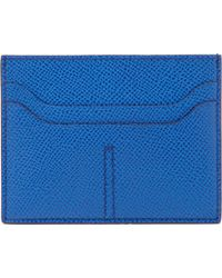 Tod's Blue Flat Card Case for men