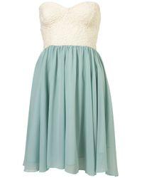 TOPSHOP Green Annali Dress By Motel
