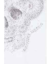 Alexander McQueen   Yellow Dandelion Skull Print Cotton Tank   Lyst