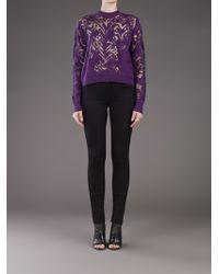 Alexander Wang Purple Knit Top