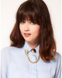 ASOS | Metallic Lion Spike Collar Tips | Lyst
