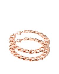 ASOS | Pink Pack Of Two Chain Bracelets | Lyst
