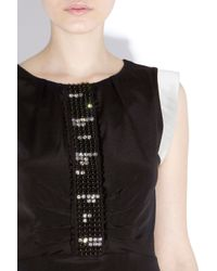 Bastyan Black Daphine Dart Dress