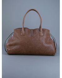 Brunello Cucinelli Brown Leather Tote Bag