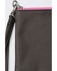 Cheap Monday | Gray The Colour Contrast Zip Wallet in Black and Pink | Lyst