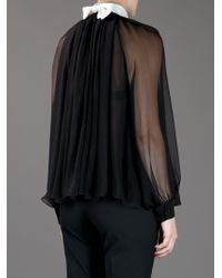 Chloé Black Sheer Blouse