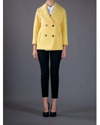 Chloé Yellow Double Breasted Jacket