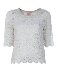 Collette by Collette Dinnigan White Lace Top
