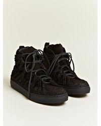 Damir Doma Black Falco Python Leather Shoes for men