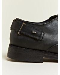 Damir Doma Black Damir Doma Mens Febris Leather Oxford Shoes for men