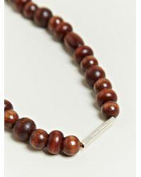 Damir Doma Brown Damir Doma Mens Atki Beaded Necklace for men
