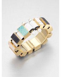Delfina Delettrez | Multicolor Chunky Multistone Sterling Silver Bracelet | Lyst