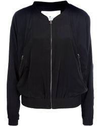 Designers Remix Black Bomber Style Jacket