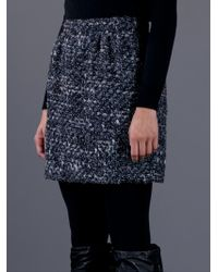 Dolce & Gabbana Gray Tweed Skirt