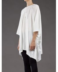 DRKSHDW by Rick Owens White Chiton Tunic