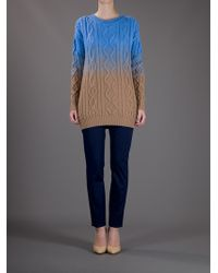 DSquared² Blue Cable Knit Sweater