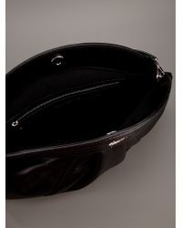 Giuseppe Zanotti Black Pleated Clutch Bag