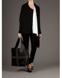 Givenchy | Black Fringed Cardigan | Lyst