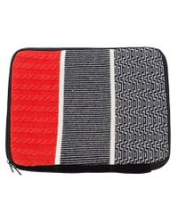 Henrik Vibskov Red Striped Computer Bag for men
