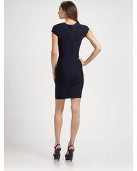 Hervé Léger | Blue Capsleeve Bandage Dress | Lyst