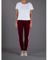 Hudson Jeans Red Vertical Stripe Jean