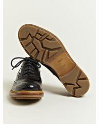 Jil Sander Black Jil Sander Womens Master Brogue Oxford Shoes
