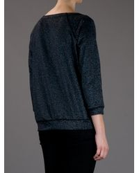 Marc By Marc Jacobs | Black Blue Sparkle Terry Sweatshirt | Lyst