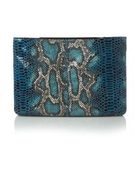 Mary Portas Blue Double Zip Feature Cross Body Bag