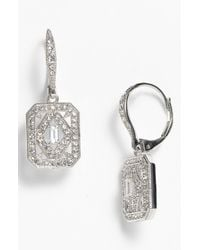 Nadri | Metallic Art Deco Drop Earrings | Lyst
