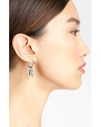 Nadri | Metallic Art Deco Drop Earrings | Lyst