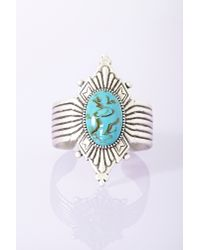 Nasty Gal | Blue Diamond Stone Cuff Turquoise | Lyst