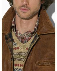 Polo Ralph Lauren Brown Morrow Skeet Leather Bomber Jacket for men