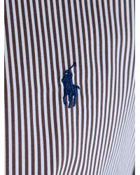 Polo Ralph Lauren Blue Vertical Striped Shirt for men