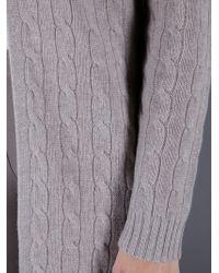Ralph Lauren Black Label Gray Long Cashmere Cardigan