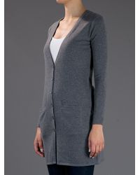 Ralph Lauren Black Label Gray Long Fitted Cardigan
